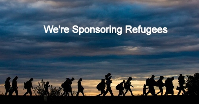 WE'RE SPONSORING REFUGEES image