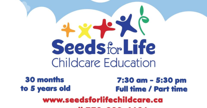 Seeds For Life - New Childcare opening image