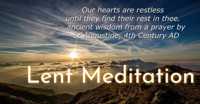 Lent Weekly Meditations image