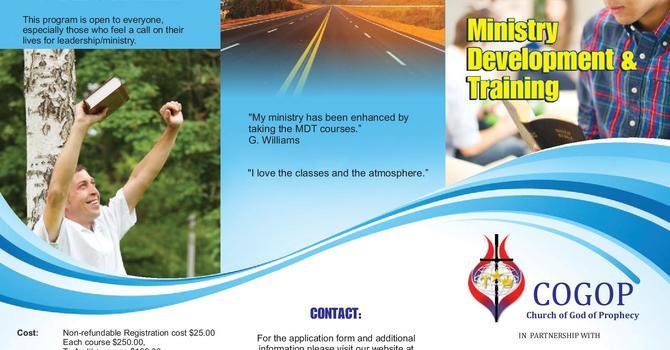 Ministry Development &Training (MDT) image