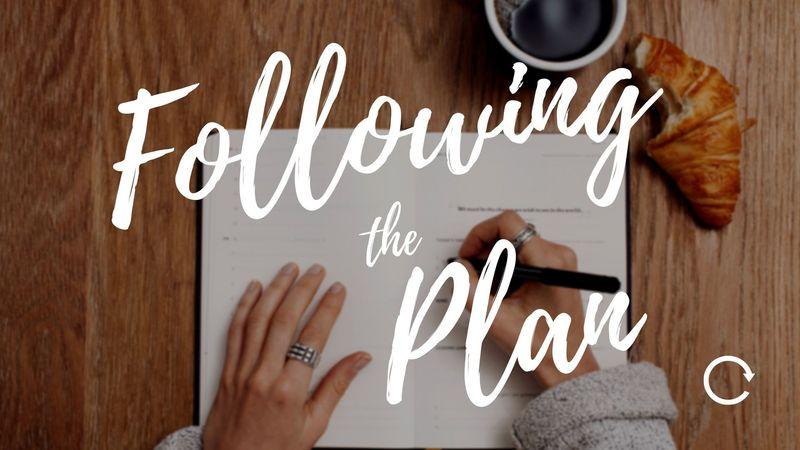 Following the Plan