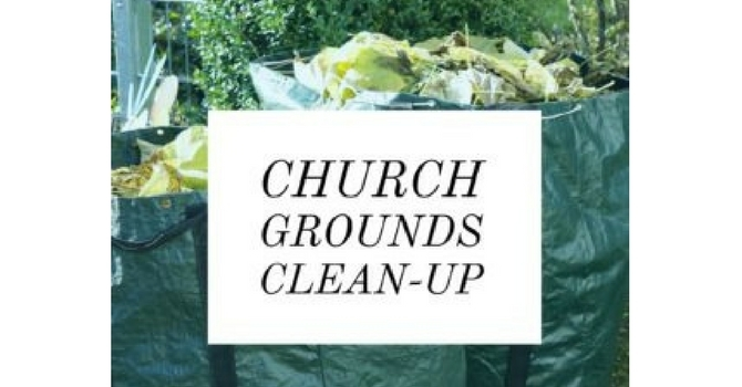 Church Grounds Cleanup image