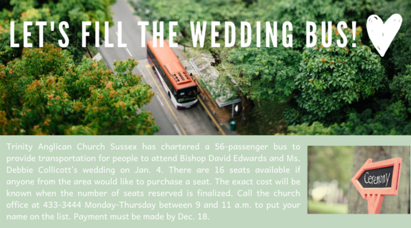 The wedding bus wants to pick you up!
