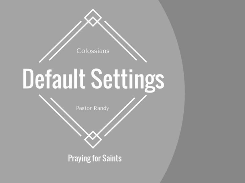 Praying for Saints