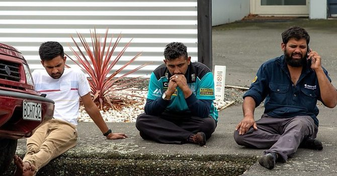 Praying for the Christchurch Mosque victims