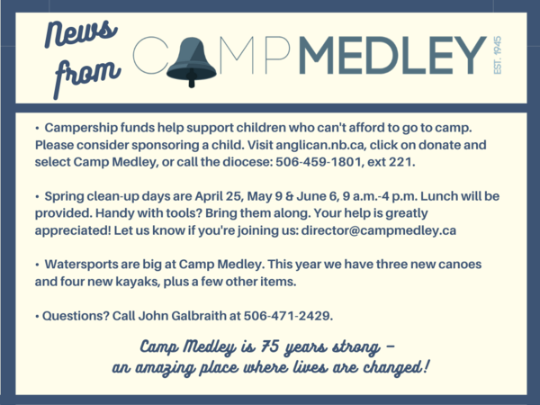Camp medley update