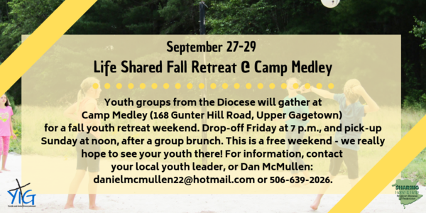 Youth retreat coming up this weekend!