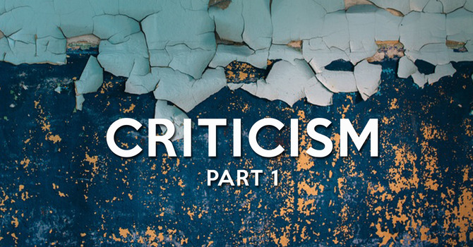 Criticism: Part 1 image