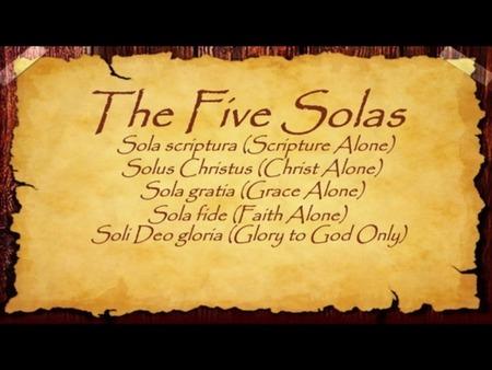 2017 - Five Solas