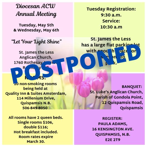 ACW's annual meeting - postponed