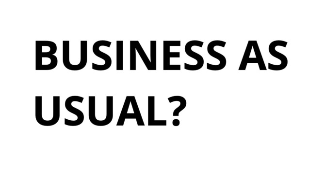 Business as usual? image