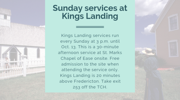 Kings Landing Sunday services