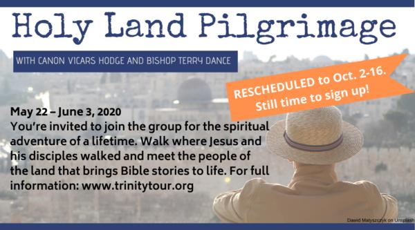 Holy Land Pilgrimage - postponed