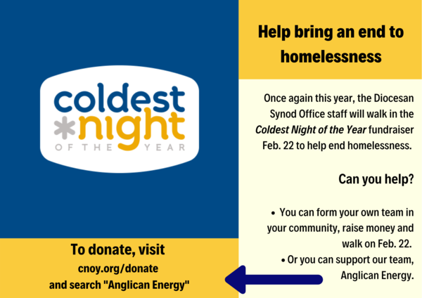 Help support Coldest Night initiatives!