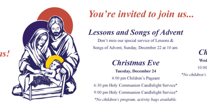 Lessons and Songs of Advent Service