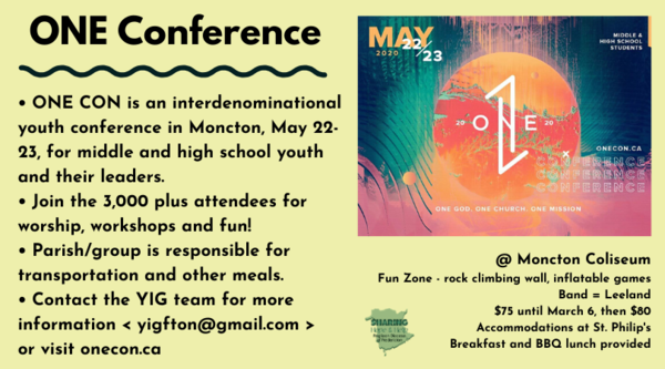 ONE conference for youth!