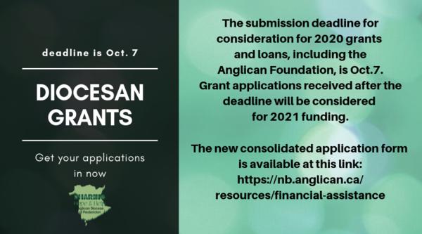 Diocesan Grants application deadline!