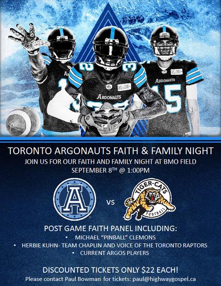 Toronto Argos Faith & Family Day