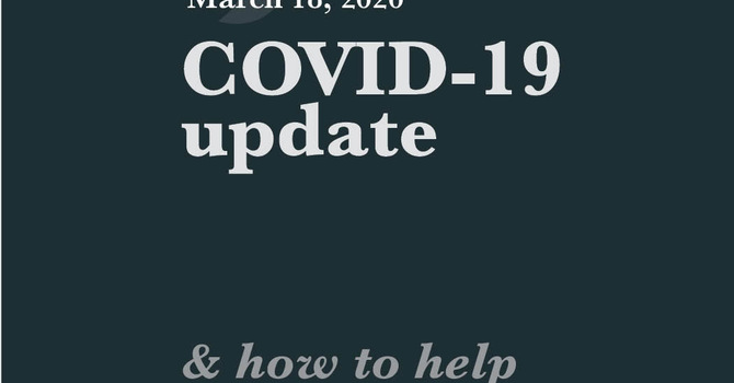 COVID-19 Update & how to help image