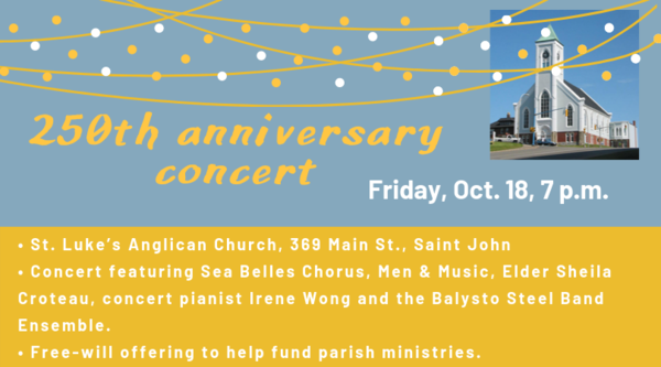 Anniversary concert at St. Luke's, Saint John