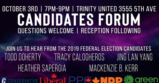Canada Votes 2019 Candidates Forum