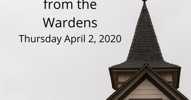 Letter from the Wardens regarding Finances