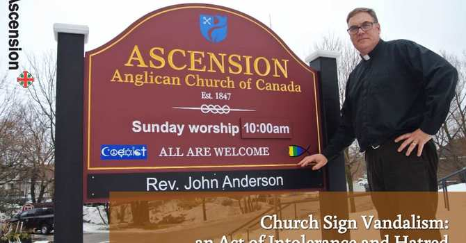 Vandalism to Church Signage an Act of Intolerance and Hatred image