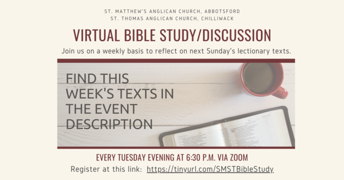 Virtual Bible Study & Discussion Group