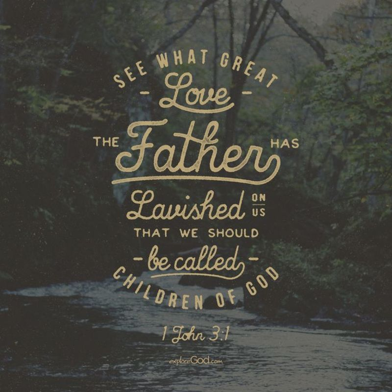 """Image result for how great is the love he has lavished on us"""""""