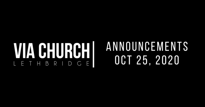 Announcements - Oct 25, 2020 image