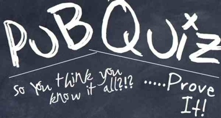 PUB QUIZ - NOVEMBER 18th.      SOLD OUT