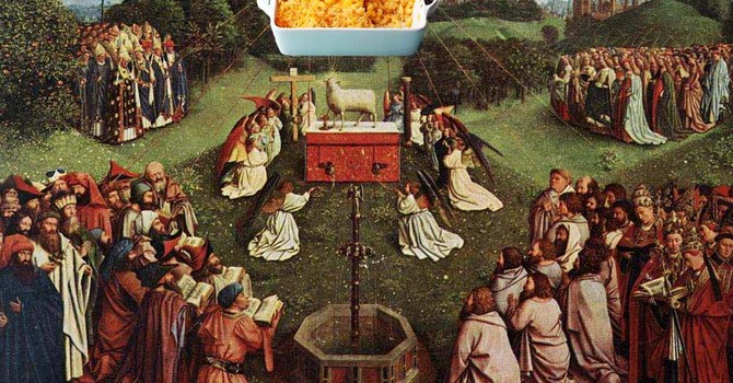 Co:Here Banquet: the sacramentality of mac-and-cheese image
