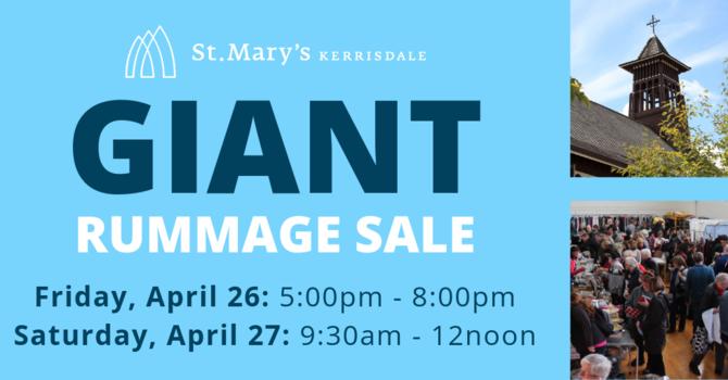 GIANT Rummage Sale image