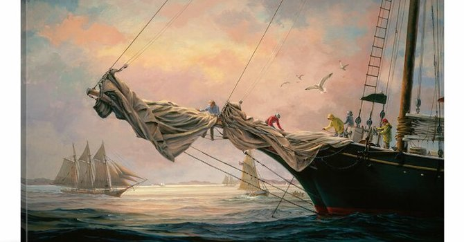 Art and Soul for Lent  Day 4 - Sail Away