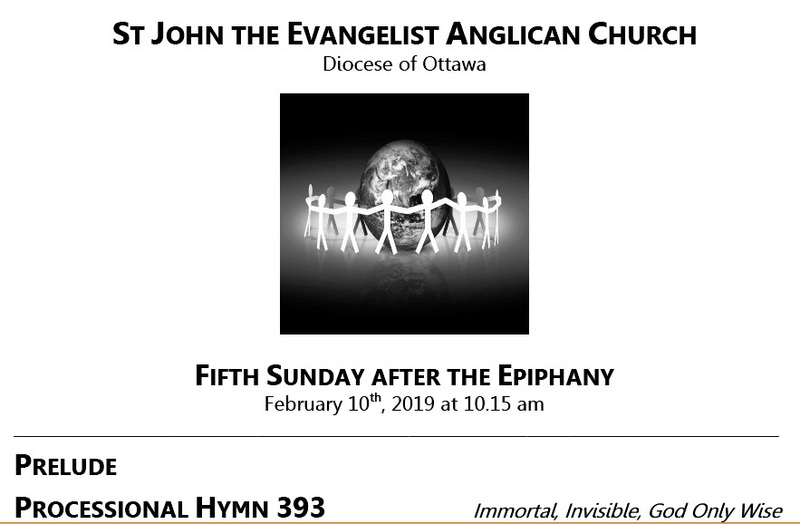 The Fifth Sunday after the Epiphany