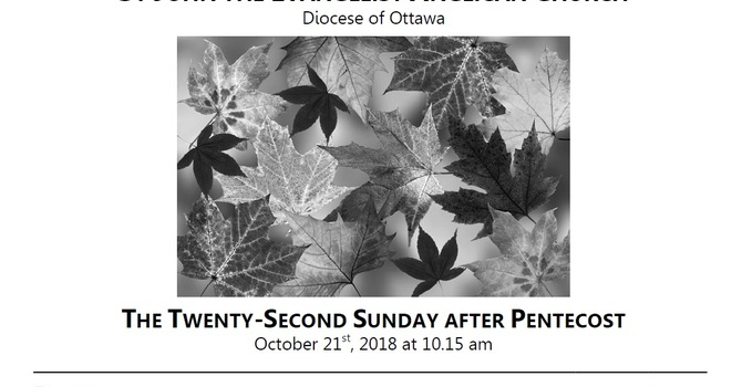 The Twenty-second Sunday after Pentecost