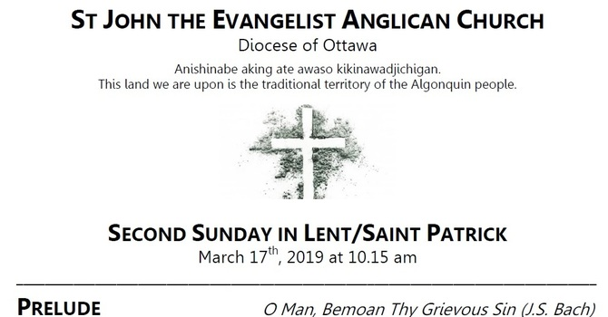 The Second Sunday in Lent / St Patrick