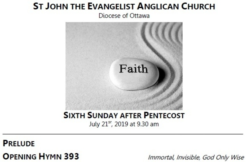 The Sixth Sunday after Pentecost