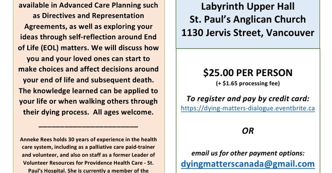 Dying Matters Dialogue 2016
