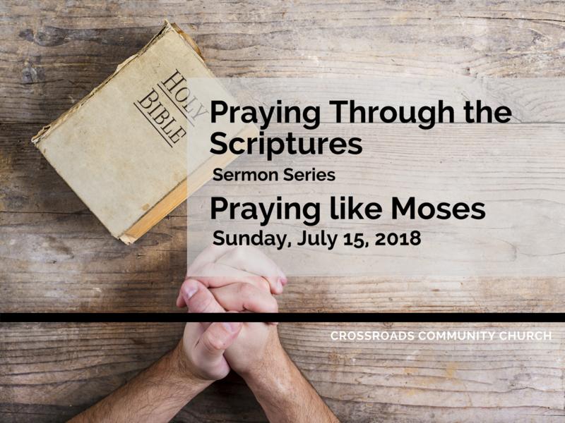 Praying Like Moses