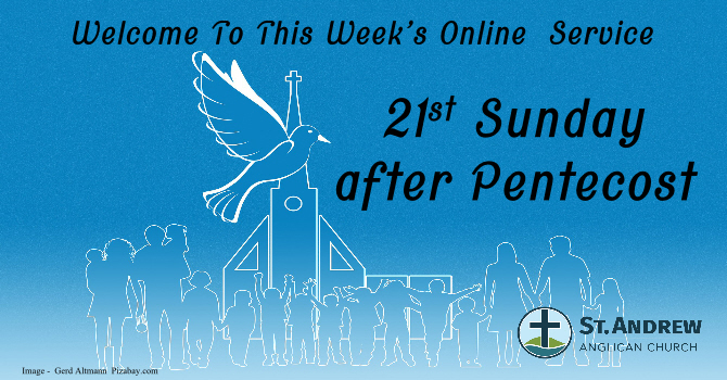October 25, 2020 On-Line Sunday Service image
