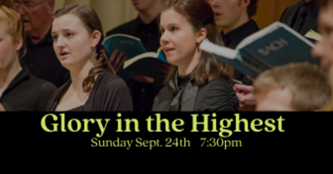 Glory in the Highest Nov 24 7.30pm