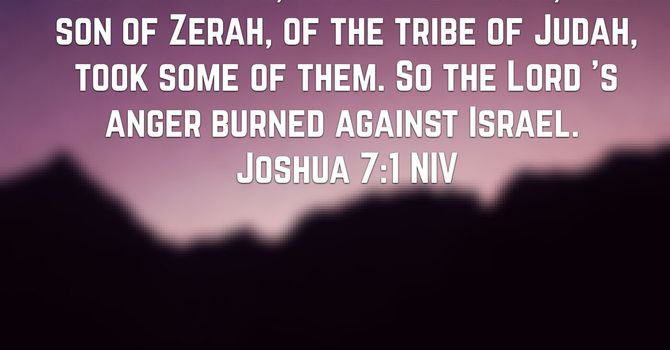 Joshua 7:1-26 barriers to genuine faith image