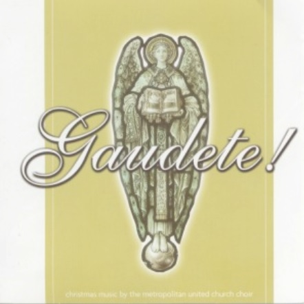 Gaudete! (an image of a white stone angel with a beige background)