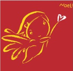 Noel — Music for Christmas (album cover art: red background a golden angel stencil)