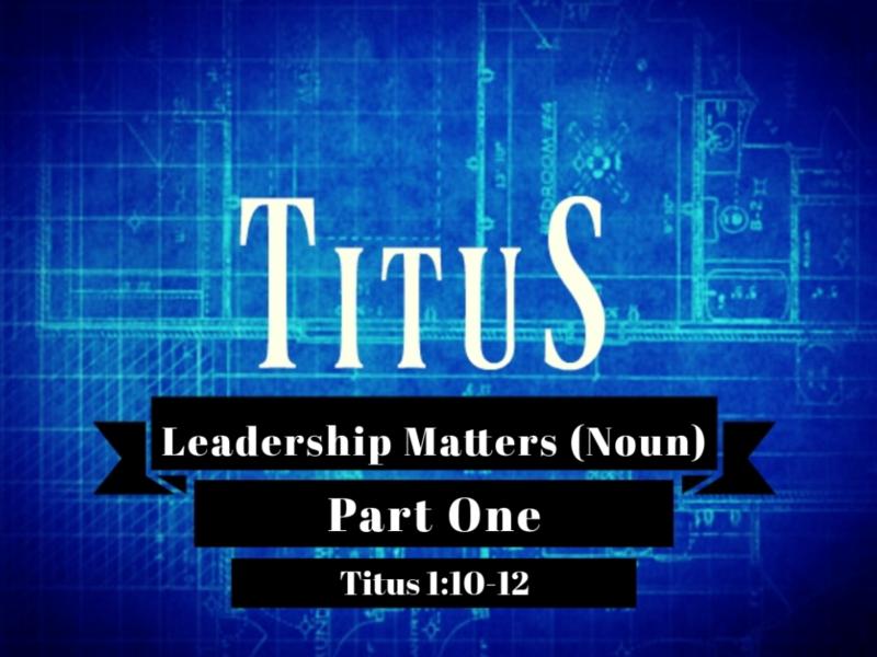 Leadership Matters (noun)