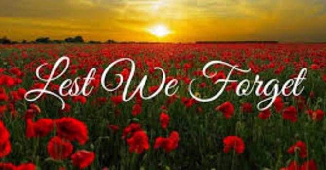 Pentecost 22 & Remembrance Sunday image