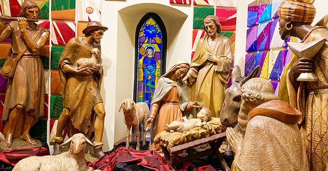 Historic Crèche on Display at CCC