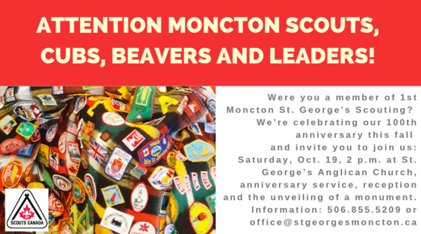 ATTENTION:  1st Moncton St. George's Scouting