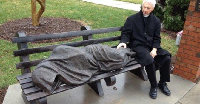 Homeless Jesus Statue Startles Community image